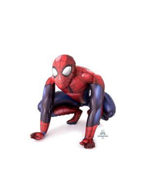 Folieballong: Gående Spiderman - 91 x 91cm
