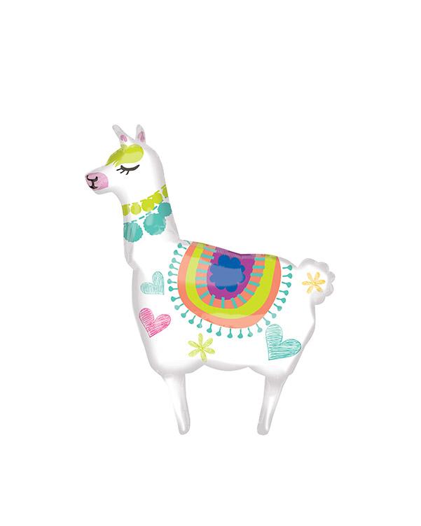 Folieballong: Llama / Lama - 71 x 104cm