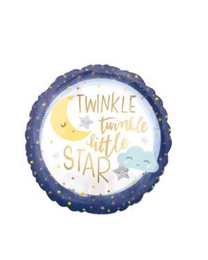 """Folieballong: """"Twinkle Twinkle Little Star"""" - 43cm"""