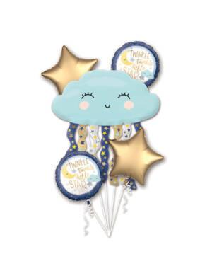 "Ballongbukett: ""Twinkle Twinkle Little Star"" - Sky, Stjerner & Måne"