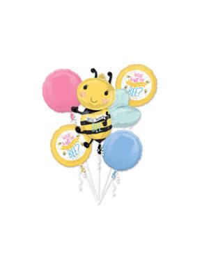 "Ballongbukett: ""What will the little honey bee?"" - Bie - Fargerik"