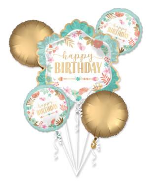 "Ballongbukett: ""Happy Birthday"""