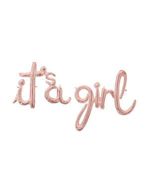 "Folieballong / Ballongbanner: ""It's A Girl"" - Rosegull"