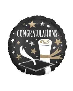 "Folieballong: ""Congratulations"" - Graduation / Eksamen - 43cm"