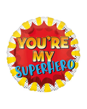 "Folieballong: ""You're my Superhero!"" - 43cm"