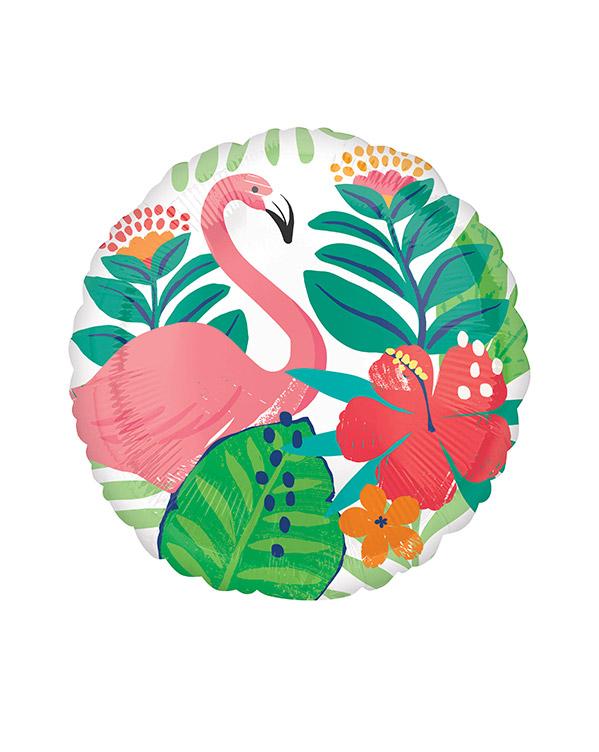 Folieballong: Flamingo - Jungel - 43cm