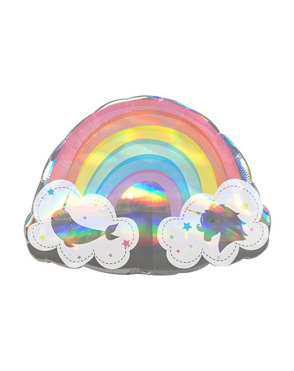 Folieballong: Magisk Regnbue - Iriserende - 71 x 50cm
