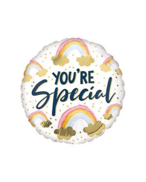 """Folieballong: """"You're Special"""" - Regnbue - 43cm"""