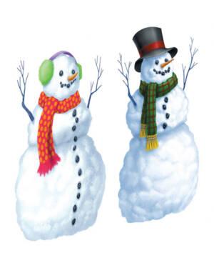 Snømann Dekor (2stk): 165 x 85cm
