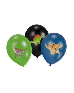 Lateksballonger (6stk): Dinosaurer - Pastel - 28cm