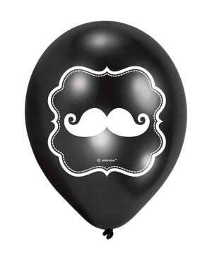 Lateksballonger: (6stk): Bart - 22,8cm