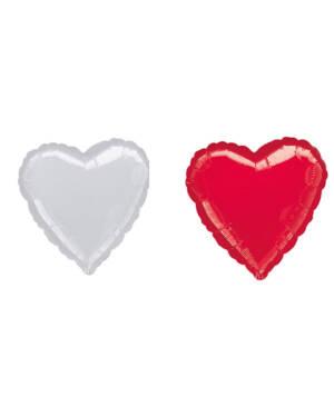 Folieballong: Hjerte - Flere farger (Metallic) - 81cm