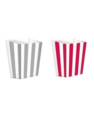 Popkorn beger / Godtebeger (5stk): 6,3 x 13,4 x 3,8cm