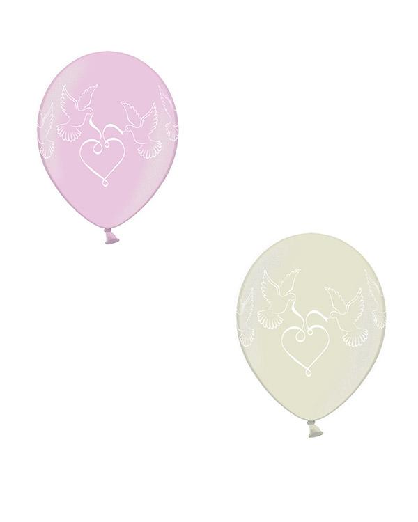 Lateksballonger (50stk): Duer - Flere farger - 30cm