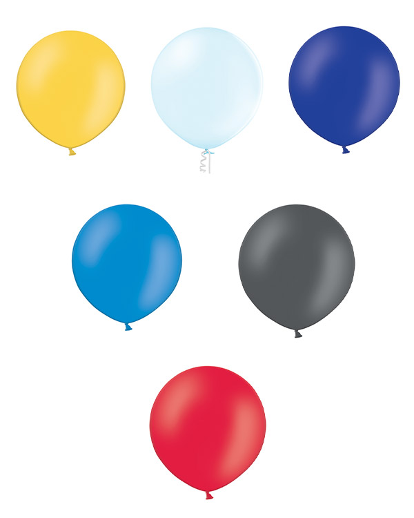 Lateksballong: Pastel - 90cm