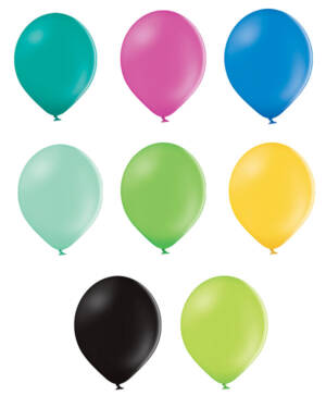 Lateksballonger (25stk): Pastel - Flere farger - 12cm