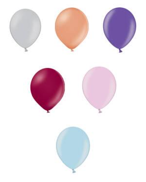 Lateksballonger (25stk): Metallic - Flere farger - 12cm