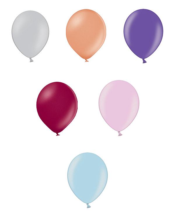 Lateksballonger (25stk): Metallic - 12cm