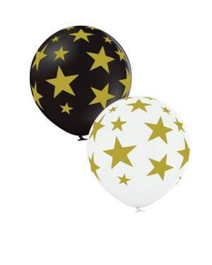 Lateksballong: Stjerner - 60cm