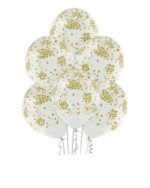 Lateksballonger (50stk): Konfettiballonger - 30cm - Crystal