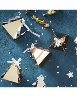 Adventkalender: Juletre i  Gull - Fyll din egen kalender