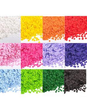 Konfetti: Silkepapir rund 10mm - 15gram - Flere farger