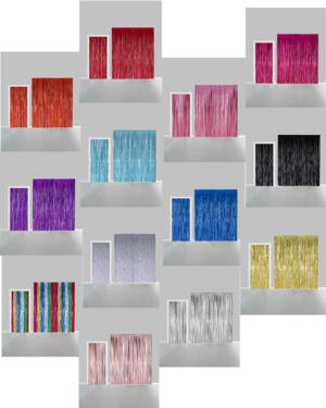Backdrop:  Frynset - Flere farger - 2,4 x 1m