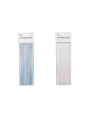 Sugerør (20stk): Papir