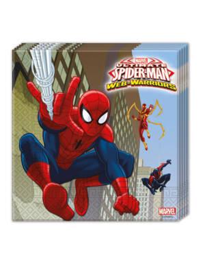 Servietter (20stk): Spiderman - 16,5cm