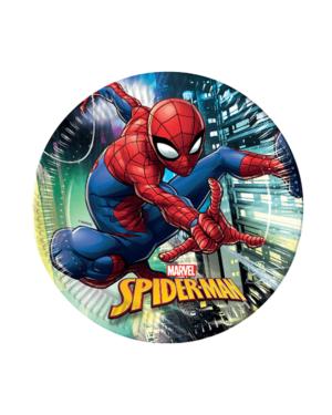 Tallerkener (18stk): Spiderman - 23cm
