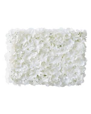 Backdrop: Hvit Blomstervegg - 63 x 45cm