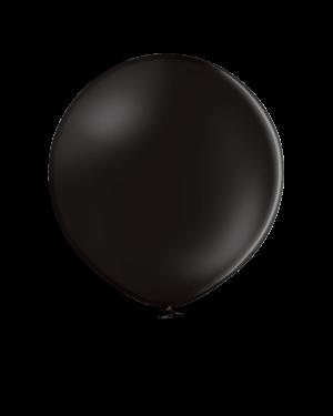 Lateksballonger (2stk):  Black (Pastel)  - 60cm