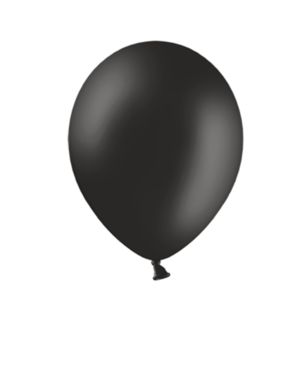 Lateksballonger (100stk): Black (Pastel) - 30cm