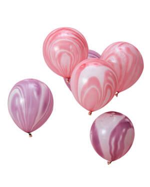Lateksballonger (10stk): Marmorballonger - 30cm