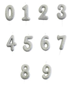 Kakelys / Tallys: Sølv - 7cm