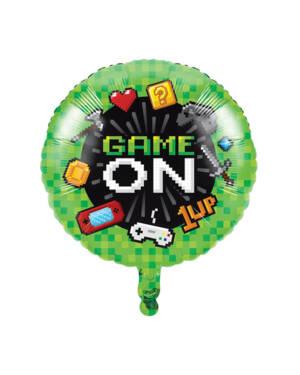 """Folieballong: """"Game on"""" - 46cm"""