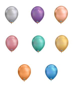 Lateksballonger (100stk): Chrome - 28cm