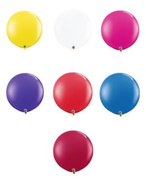 Lateksballonger (2stk): Flere farger (Jewel Tone) - 91cm