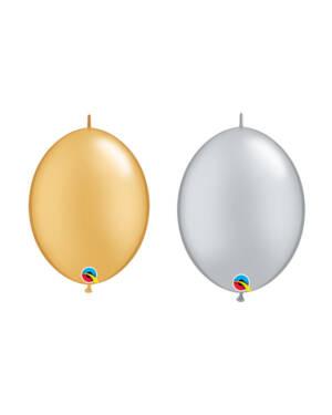 Lateksballonger (50stk): Quick Link - Metallic - 30cm