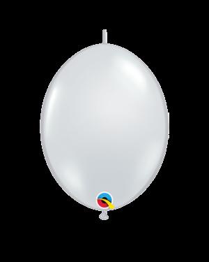 Lateksballonger (50stk): Quick Link - Diamond Clear (Jewel Tone) - 30cm