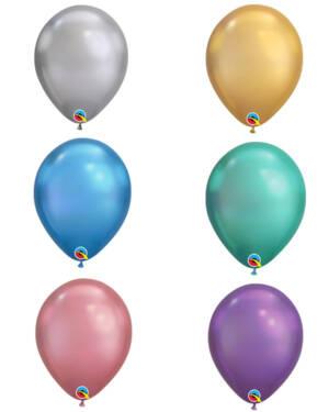 Lateksballonger (100stk): Chrome - 18cm