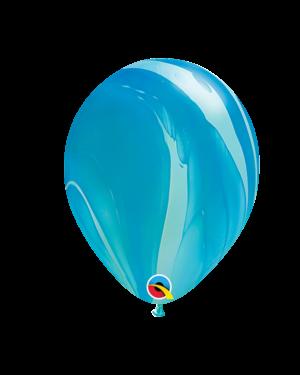 Lateksballonger (25stk): Blå Regnbue - 28cm