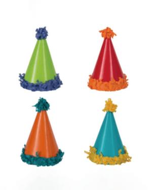 Festhatter (8stk): Minihatter med Pompoms