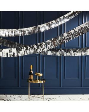 Girlander / Tassel: Folie sølv - 5m