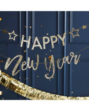 "Banner / Girlander: ""Happy New Year"" - 2stk 1,5m"