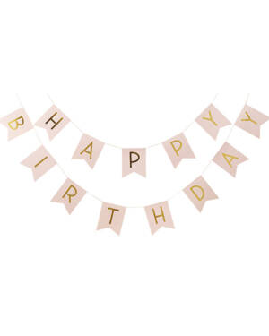 "Banner / Girlander: ""Happy Birthday"" - 2m"