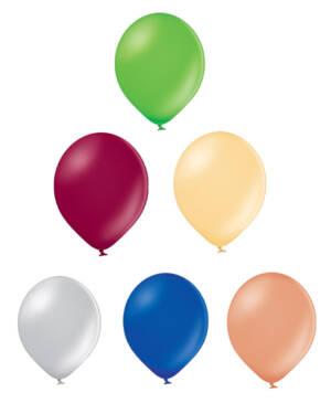 Lateksballong: Metallic - 12cm - Per stk