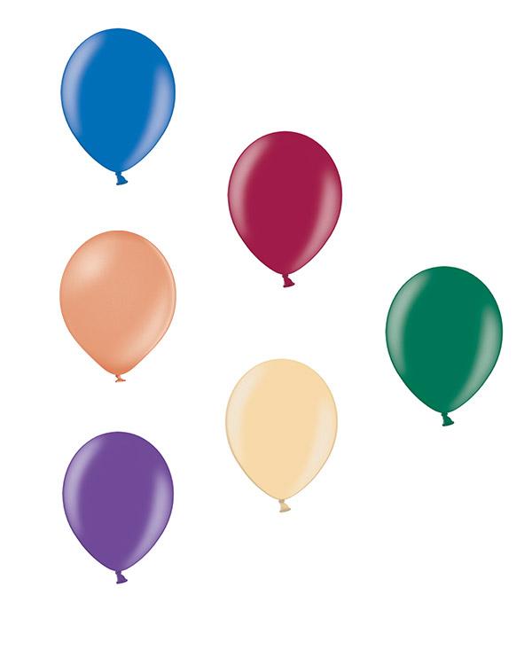 Lateksballong: Metallic - 30cm - Per stk
