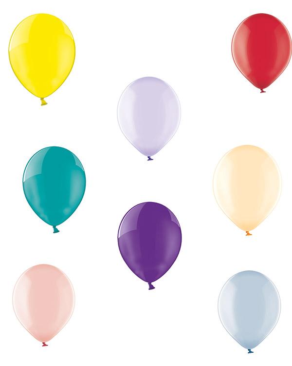 Lateksballong: Crystal - 30cm - Per stk
