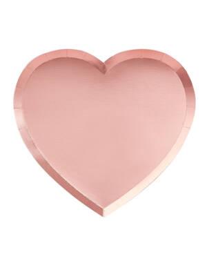 Tallerkener (8stk): Hjerteformet - 24cm